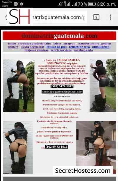 29 year old Guatemalan Escort in Guatemala City dominatrix pamela, Independent